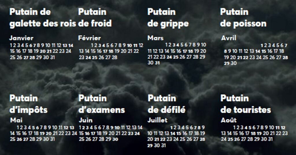 Examples of uses of the French curse word putain